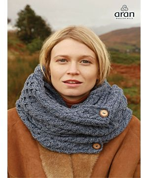 Aran Infinity Snood Denim