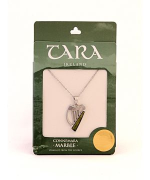 Connemara Marble Irish Harp necklace