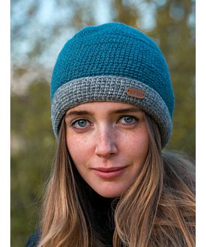 Irish Crochet Hat Blue