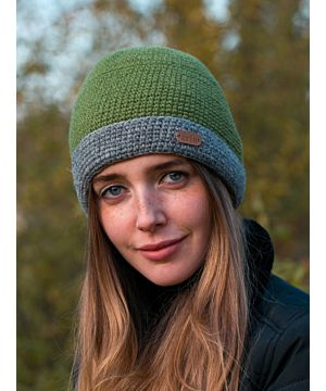 Irish Crochet Hat Moss Green