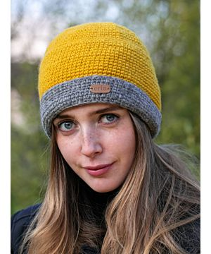 Irish Crochet Hat Yellow