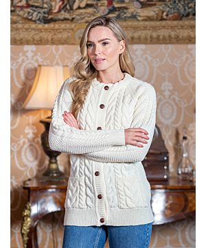 Ladies Lumber Cardigan New Natural FITTED