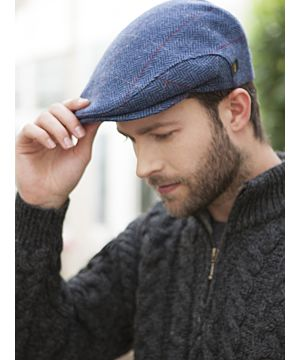 Trinity Cap Light Blue Herringbone col.110