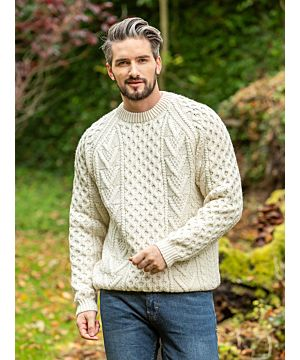 Men's Hand Knit Irish Fisherman Sweater