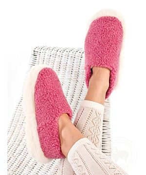 Wool Slippers Pink
