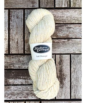 Soft Donegal Knitting Wool Natural White 100g