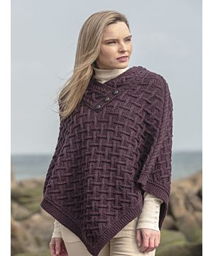 Super Soft Poncho Plum