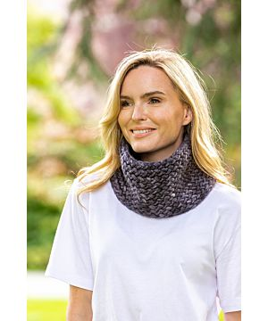 Super Soft handmade Irish Snood - Charcoal
