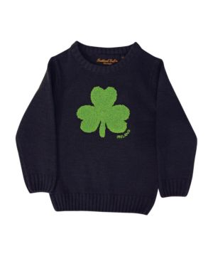 Navy Round Neck Ireland Kids Sweater