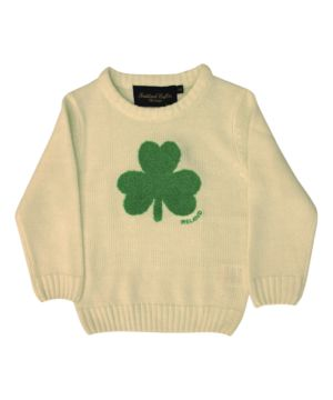 Cream Round Neck Ireland Kids Sweater