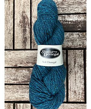 Soft Donegal Knitting Wool Teal 100g