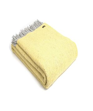 Pure New Wool Blanket - Lemon