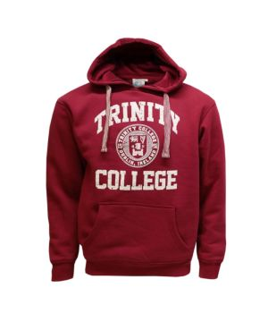 Trinity Unisex Hood Embroidered Burgandy