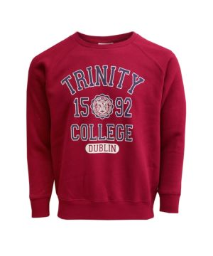 Official Trinity College Dublin Sweatshirt in Burgundy