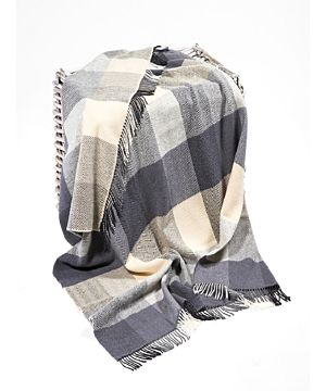 Wool and Cashmere Check Throw