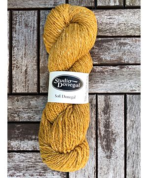 Soft Donegal Knitting Wool Yellow 100g