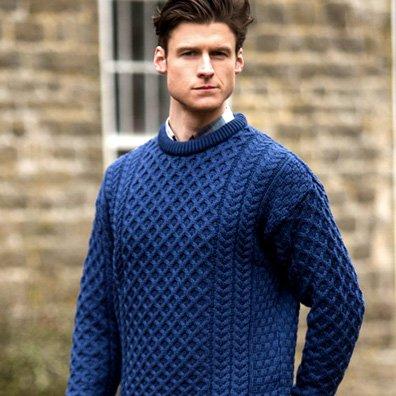 aran sweater men