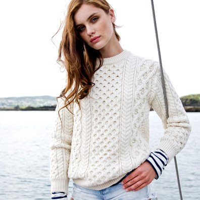 aran sweater womens