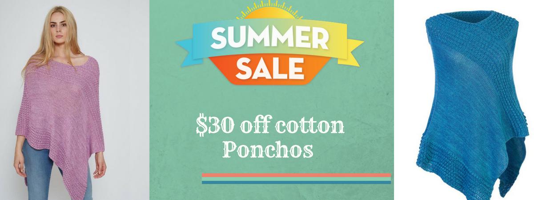 Cotton poncho sale